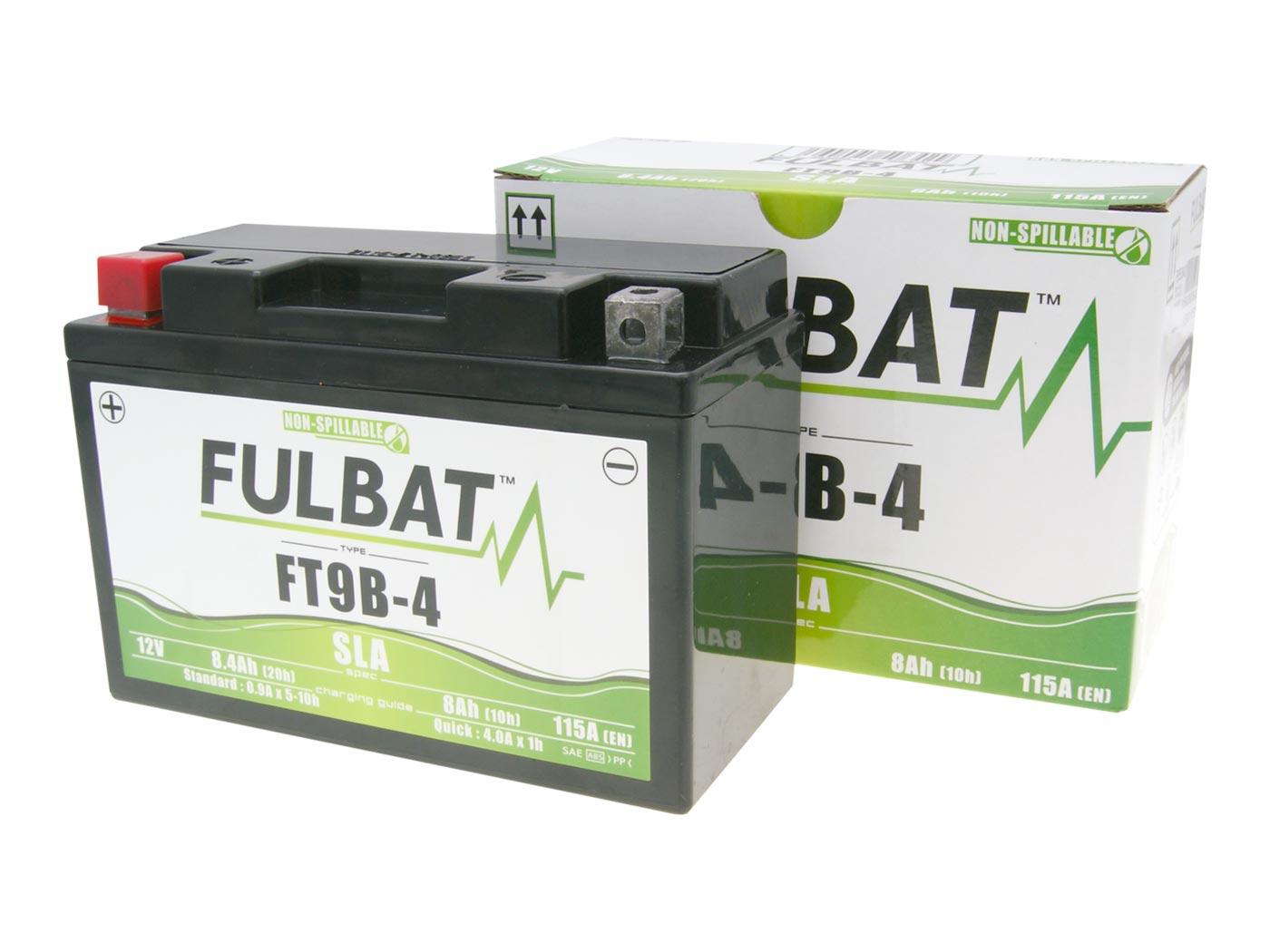 batterie fulbat gel yt9b 4 sla mf wartungsfrei. Black Bedroom Furniture Sets. Home Design Ideas