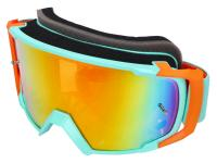 MX-Brille S-Line Scrub blau / orange - Iridium orange