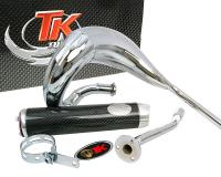 Auspuff Turbo Kit Bufanda RQ Chrom - Aprilia, Derbi, Gilera
